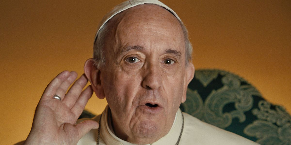 Pope Francis in Wim Wenders' documentary.
